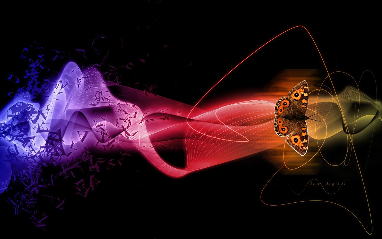 پروانه  و رهایی --- عکس زیبا و با کیفیت از پروانه و طراحی دیجیتال رهایی